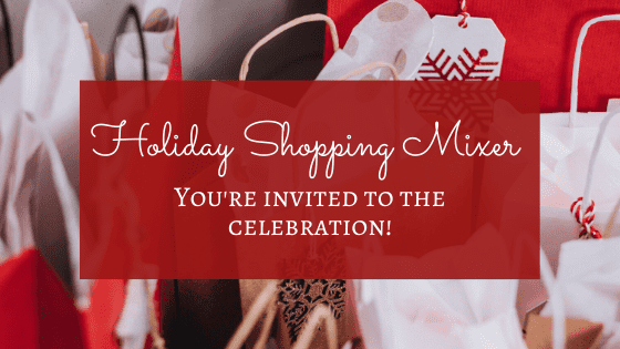 holiday shopping mixer
